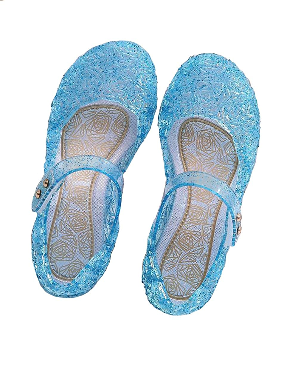Ortarco Toddler Girls Princess Sandal Jelly Mary Jane Flat Costume Cosplay Dance Shoes for Little Kid