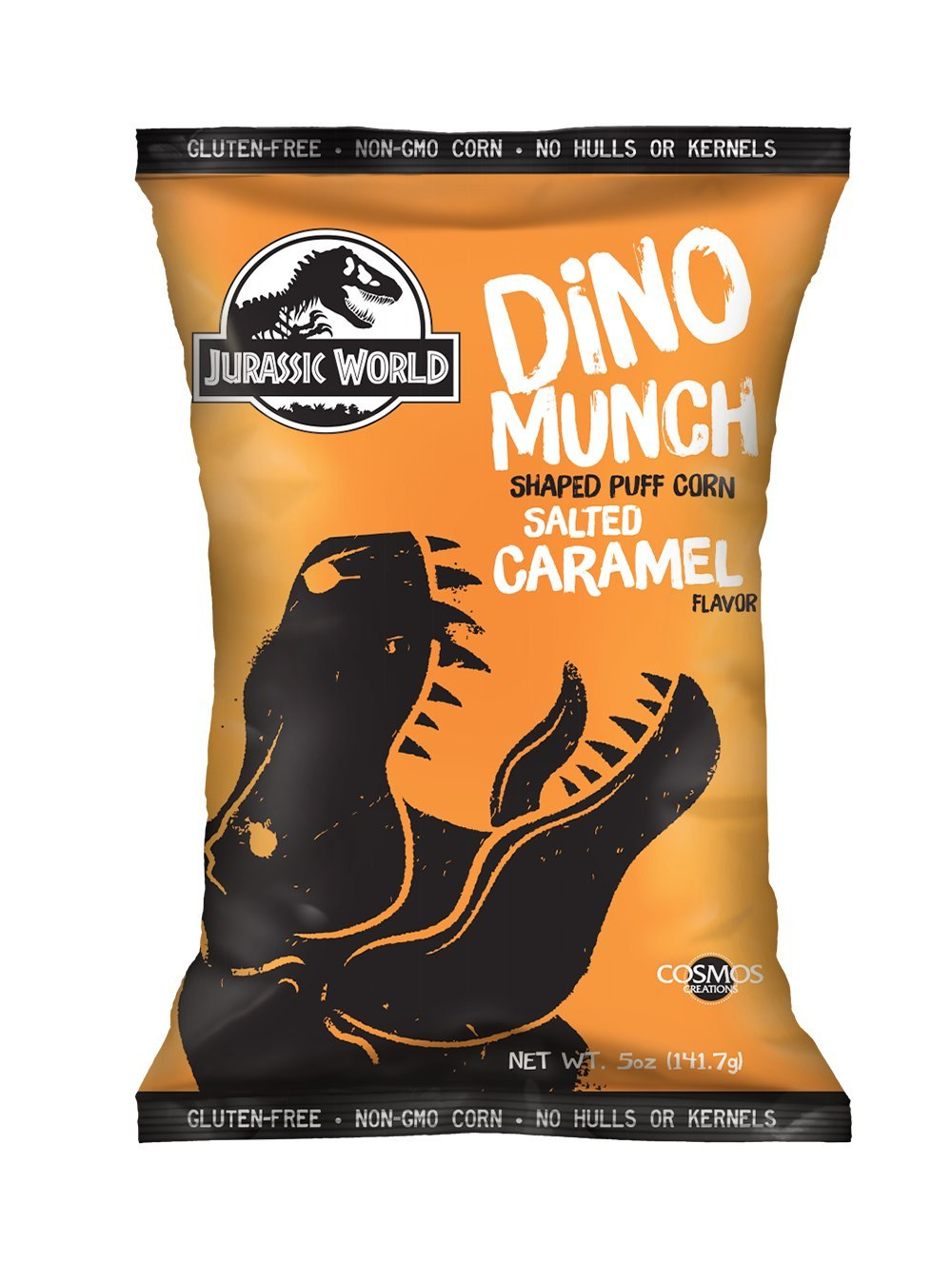 Jurassic World Dino Munch Salted Caramel Dino Shaped Puff Corn 5 oz, Case of 8 by Jurassic World