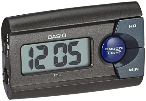Amazon.com: Reloj despertador Casio PQ-31 – 1EF Negro: Home ...