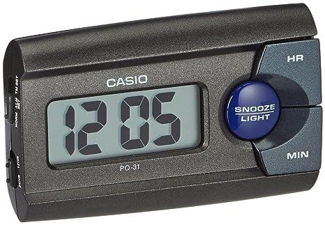 Amazon.com: Reloj despertador Casio PQ-31 – 1EF Negro: Home ...