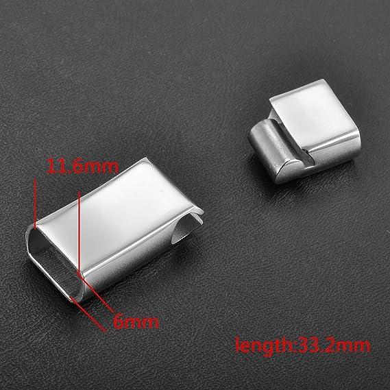 Skyllc/® Rectangular Magnet Buckle Stainless Steel Magnetic Buckle in Black DIY Bracelet Necklace Leather Rope Safety Buckle