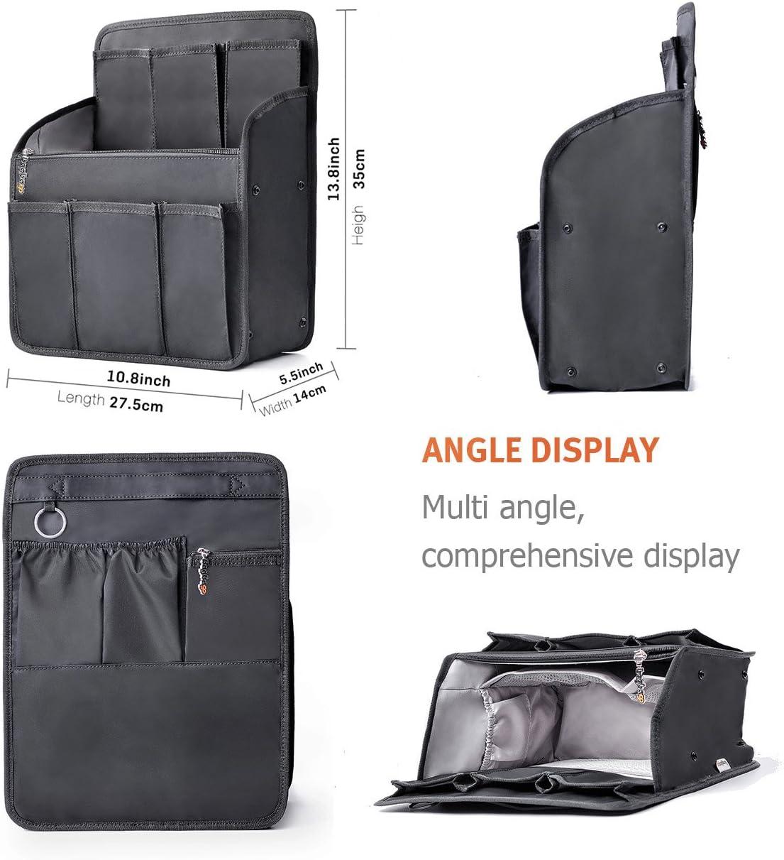 bag in bag Organiseur de Sac /à Dos Cartable Ins/érer Sac de Rangement Int/érieur pour Femme Fille