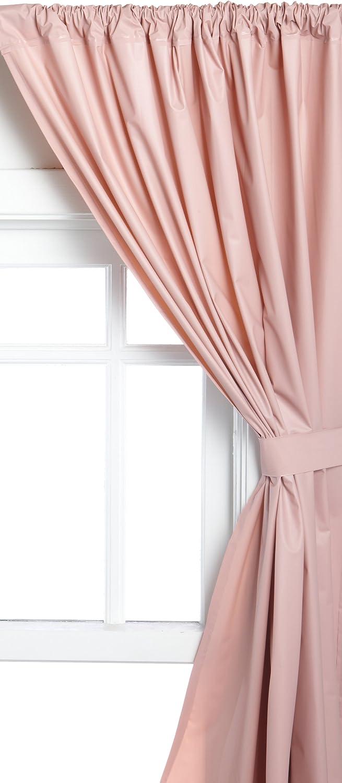 Carnation Home Fashions Vinyl Bathroom Window Curtain, Rose, 45
