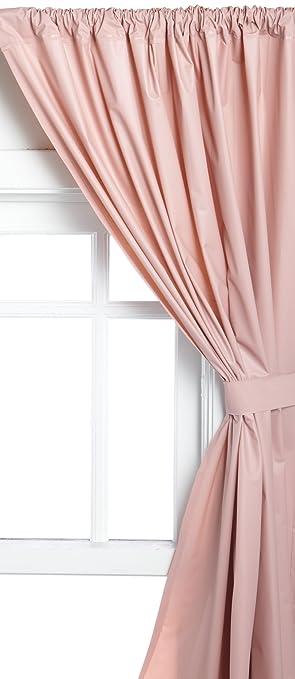Carnation Home Fashions Vinyl Bathroom Window Curtain, Rose, 45u0026quot; ...
