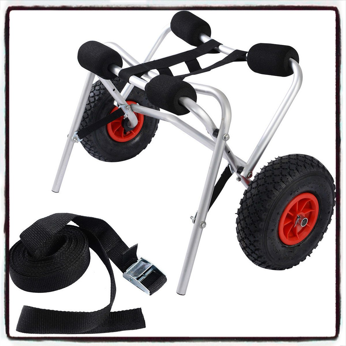 Aluminum Transport Kayak Boat Canoe Gear Dolly Cart Trailer Carrier Trolley Wheels - House Deals