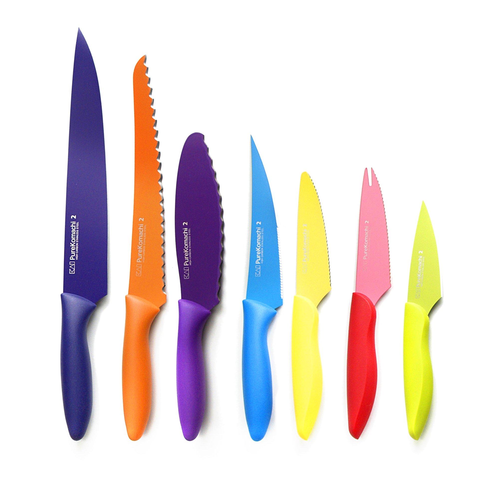 Kai Pure Komachi 2 Stainless Steel 7 Piece Knife Set