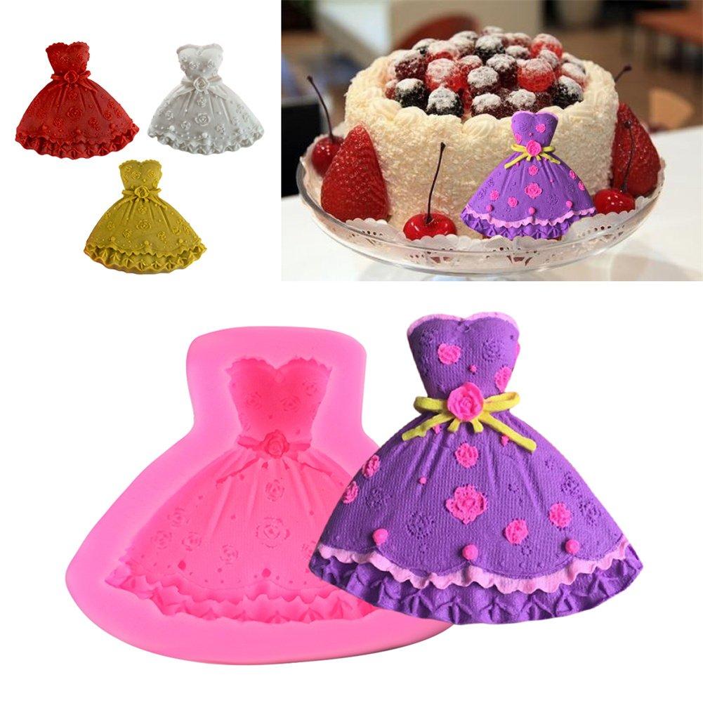 Wedding Dress Silicone Mold Evening Dress Princess Dress Silicone Cake Mold Baking Chocolate Handmade SOAP Baking Tool