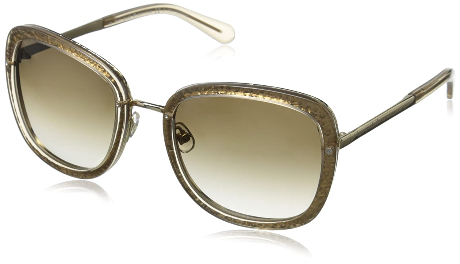 2412a3b9c0 KATE SPADE SCOTTIE S Sunglasses 0CW2 Transparent Tan 56-22-135   Amazon.co.uk  Clothing