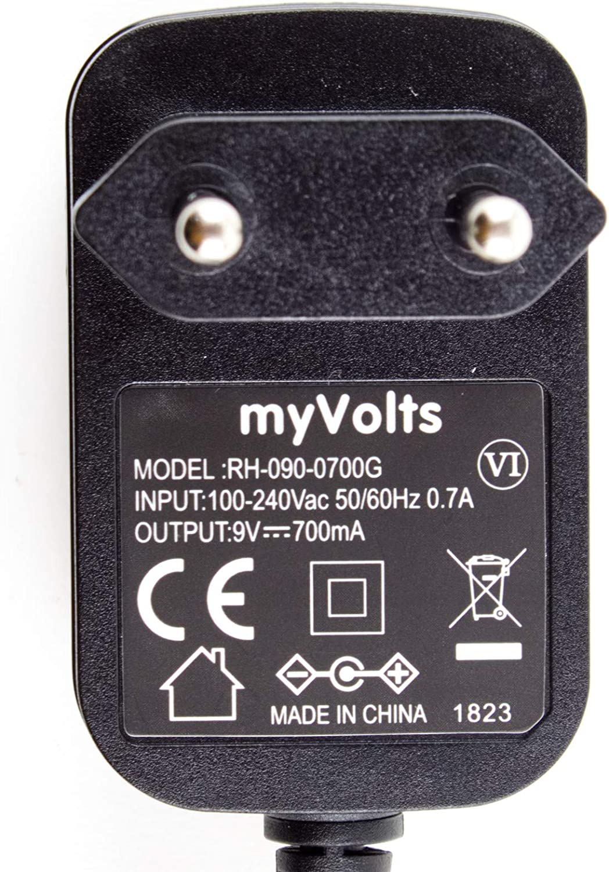 Prise fran/çaise MyVolts Chargeur//Alimentation 9V Compatible avec Session Pro DD505 Kit Batterie /électronique Adaptateur Secteur