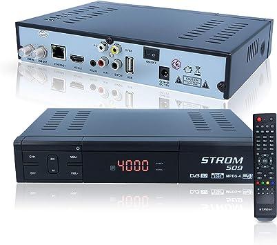 HD Digital Sat Corriente del Receptor 509 – IP TV Internet Youtube XTREAM de códigos con la Conector HDMI (HDTV, DVB-S2, HDMI, AV, Ready, USB 2.0), Color Negro: Amazon.es: Electrónica
