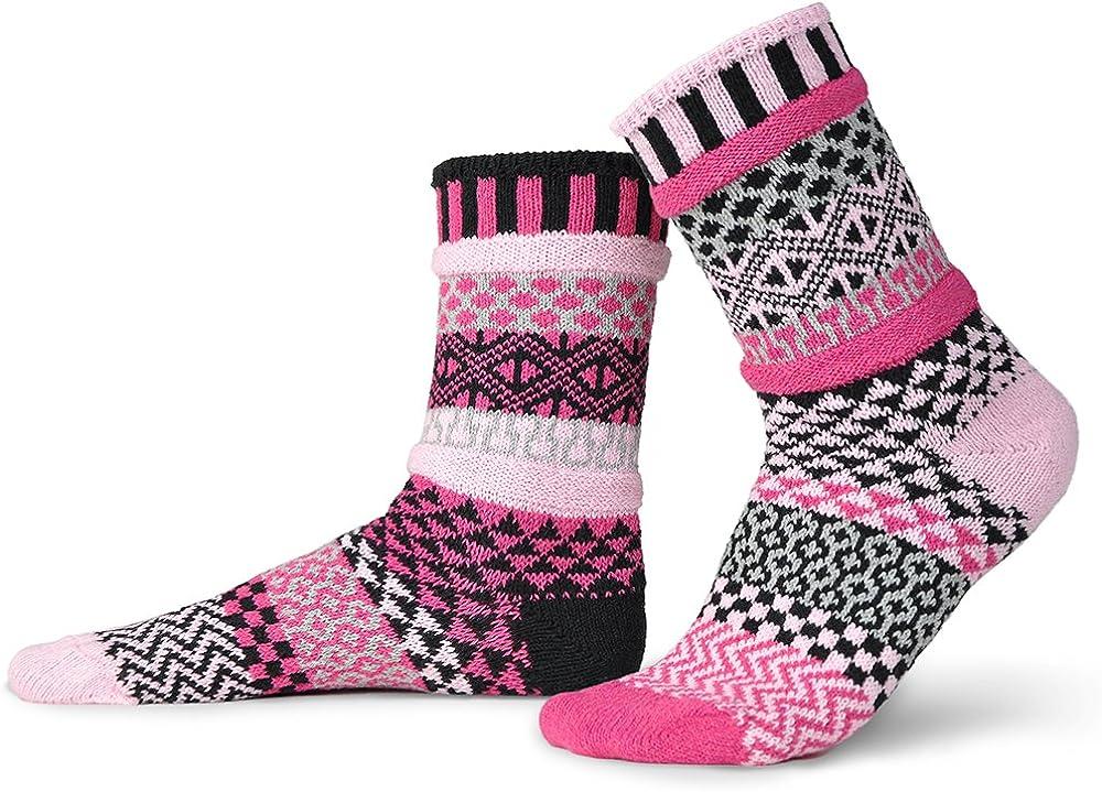 Solmate Socks Mismatched Crew Socks for women or Men