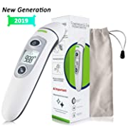 [New Generation]Forehead and Ear Thermometer, Digital Medical Infrared Thermometer, Infrared Fever Thermometer with New Algorithm for Best Accuracy, for Infant Baby Kids and Adults