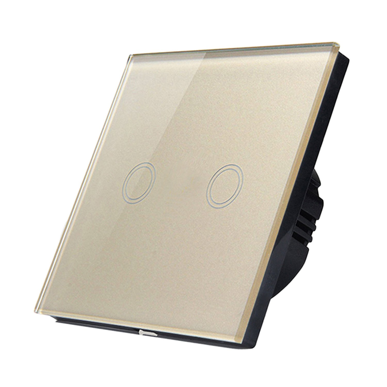 Gosear Interruptor de Pantalla tactil, Interruptor de la Pared del Tacto Inteligente Interruptor de luz Touch (Blanco)