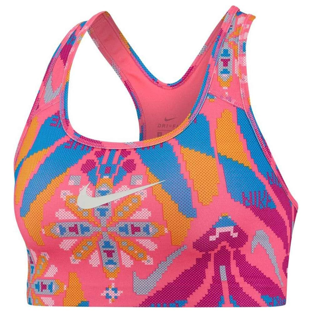 Nike FTR Fem Bra PRT Sujetador Deportivo, Mujer, Hyper Pink ...
