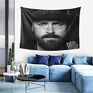 PeterLLowery Zac Brown Band Jekyll and Hyde Tapestry Indoor Wall Hanging Window Curtain Picnic Mat Decor Bedroom Living Room 60x40 Inch