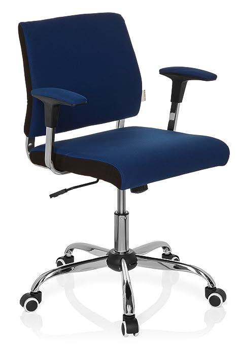 hjh OFFICE AVIDA Silla de Oficina, Tela, Azul, 42 x 56 x 93 cm