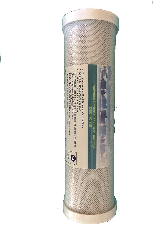 5 Caware CBC-10 5 10 inch x 2 1//2 inch Coconut Shell Carbon Block Cartridge
