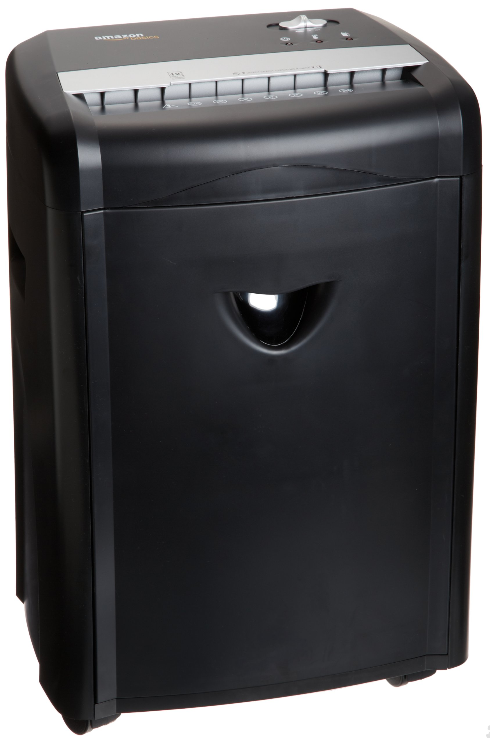 AmazonBasics 12-Sheet High-Security Micro-Cut Paper, CD and Credit Card Home Office Shredder with Pullout Basket by AmazonBasics