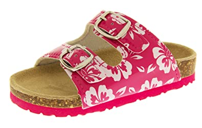 ed85e84a7 Footwear Studio De Fonseca Girls Bitallia Pink Leather Lined Mule Sandals  UK 8.5 Infant