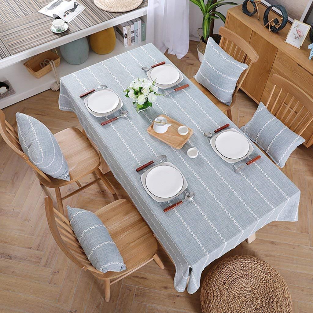 Shuangdeng テーブルクロス、混合綿のテーブルクロス、格子長方形のテーブルクロス、牧歌的なテーブルクロス、文芸茶テーブルクロス、居間のテーブルクロス、ピクニッククロス、北欧スタイル (サイズ : 130*190CM) 130*190CM  B07SDQ9LHC