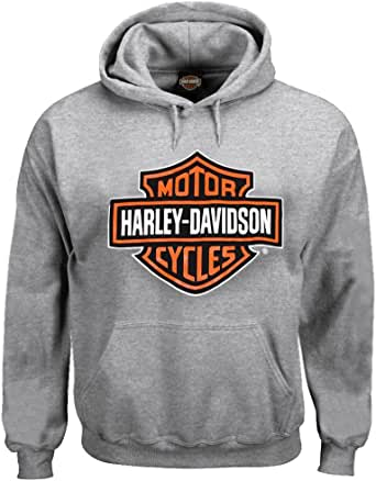 Harley-Davidson Men's Pullover Sweatshirt, Bar & Shield Hoodie, Gray 30296627