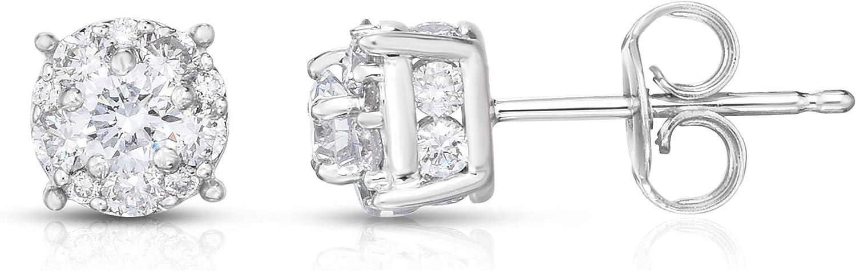 Helzberg Diamonds 10K White Gold 1 cttw Lab-Grown Diamond Stud Earrings