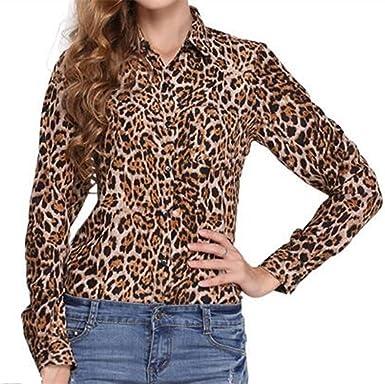 Leopardo Mujeres Sexy Camisa T Shirt Mangas Largas Camisetas Casual BÉIsbol Ropa De Deporte Sweatshirt Blusa Tops: Amazon.es: Ropa y accesorios