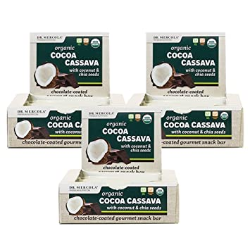 Dr. Mercola Organic Cocoa Cassava Energy Bars - 36 Ct. 3 ...
