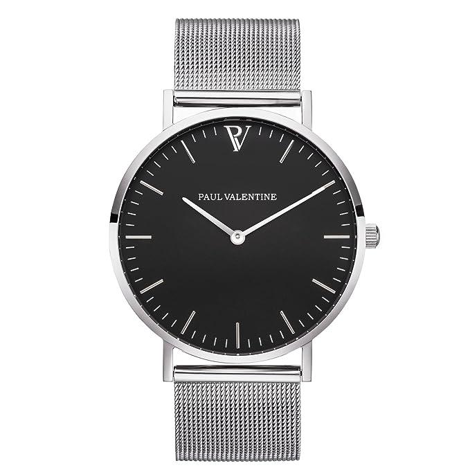 Paul Valentine | Pearl Plata Malla | Mujer Reloj De Pulsera Con elegante diseño & atemporal y el mejor acero inoxidable Pulsera: Amazon.es: Relojes