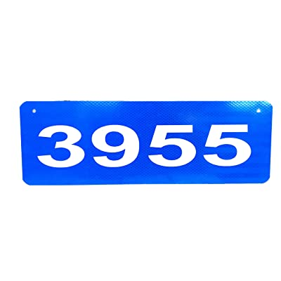 """Granite City Graphics Horizontal Blue 911 Sign with 2.5"""", 3"""", or 4"""" Numbers (4) : Garden & Outdoor"""