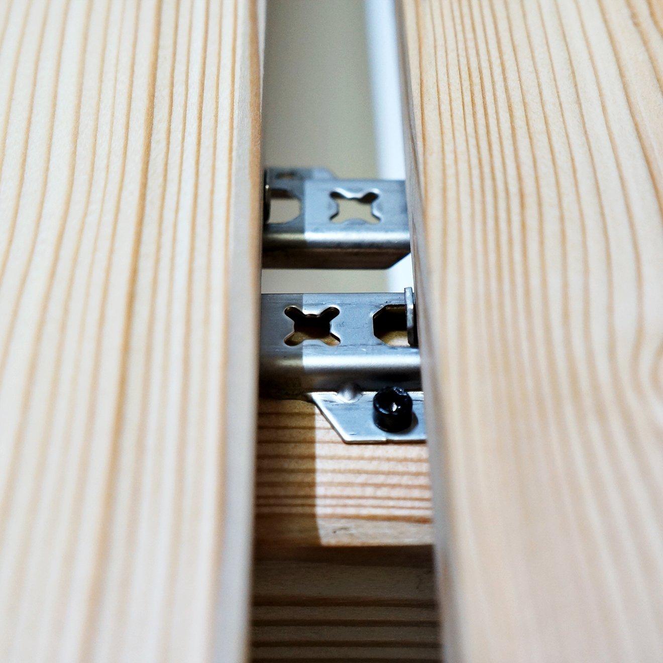 argent /également bois tropical biomaderas/® Clips en acier inoxydable/ avec 19/mm /à 25/mm d/épaisseur /Fixation cach/ée Pour Lames de terrasse