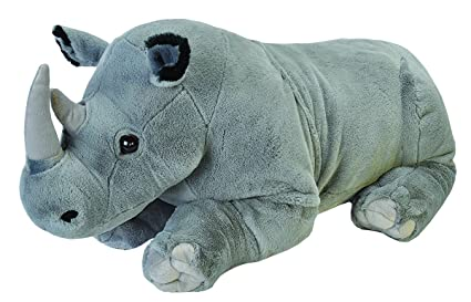 Wild Republic Jumbo Rhino Plush, Giant Stuffed Animal, Plush Toy, Gifts for Kids