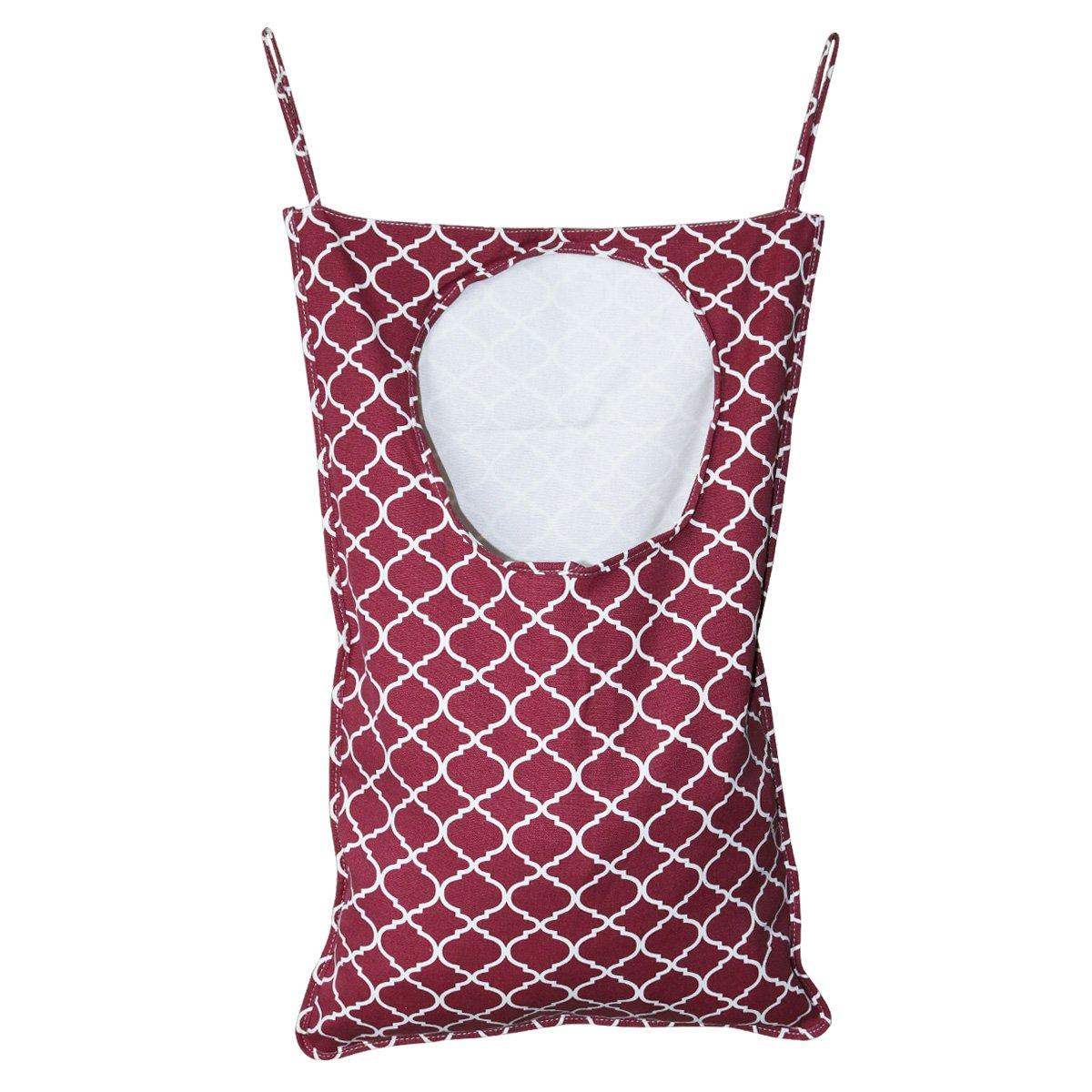 ASYOU Laundry Hamper,Cotton Canvas Hanging Laundry Hamper Bag For Closets, Dorms, Travel, Storage (Blue)