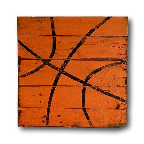 Basketball Sign / Vintage Wood Sports Sign / Boys Bedroom Decor / Vintage Basketball  Decor