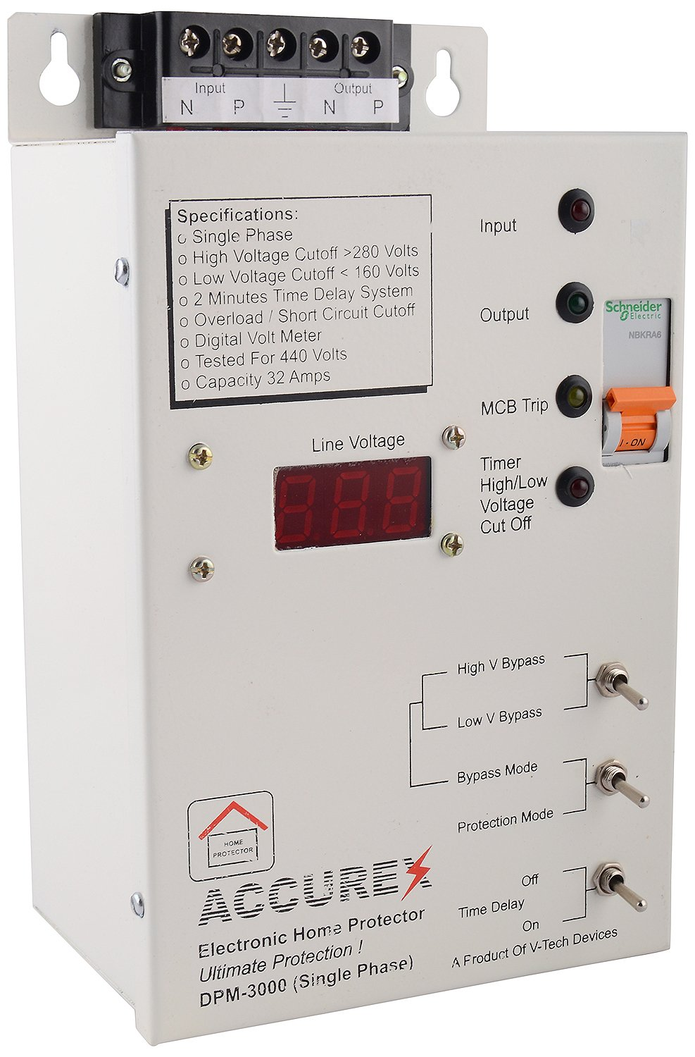 Accurex Dpm 3000 Single Phase Home Voltage Protector High Power Supply 3000v Electronics