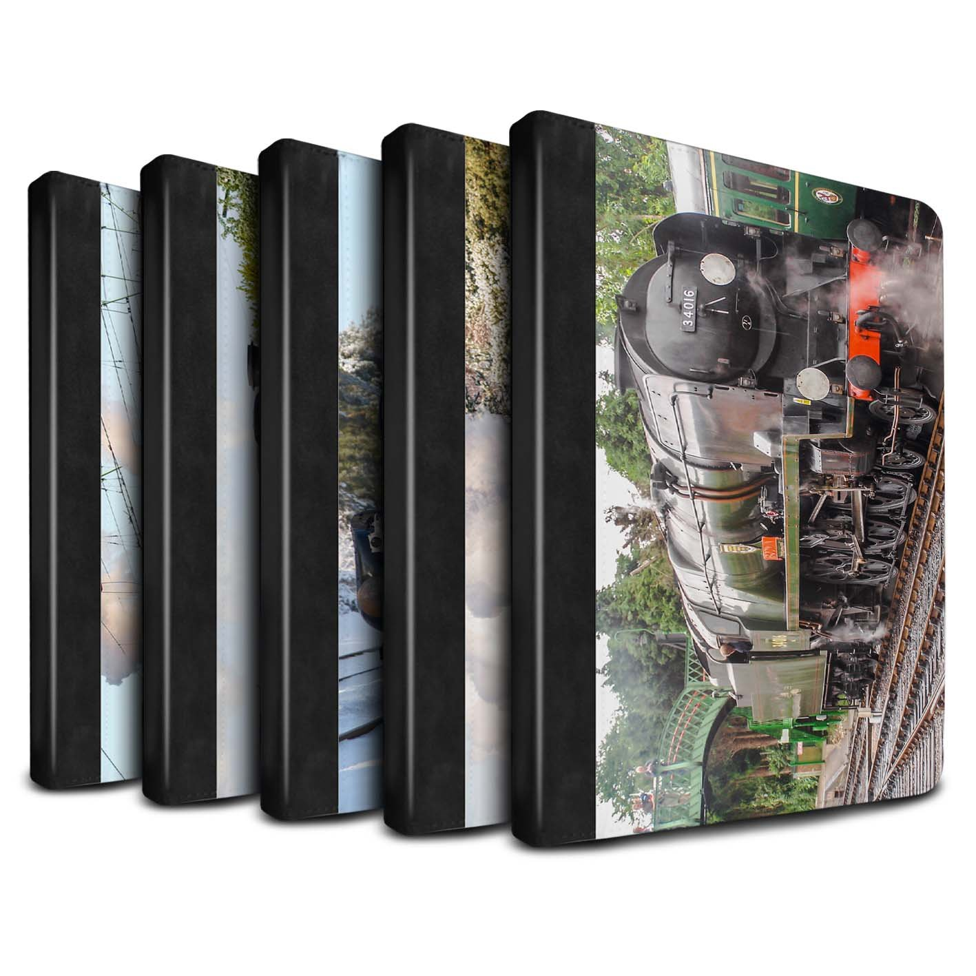 STUFF4 PU Leather Book/Cover Case for Apple iPad 9.7 (2017) tablets / Pack 20pcs Design / Steam Locomotive Collection