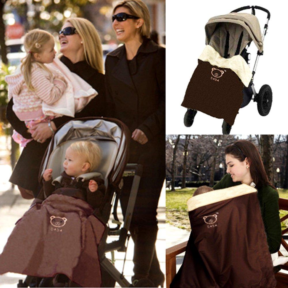 HILTOW Baby Comfort Stroller Weather Shield/Waterproof Stroller Warm Blanket Cover fit winter K-28