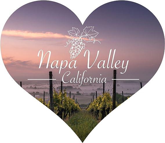 Napa Valley California Souvenir Wine Country Sonoma Grapes Heart Magnet