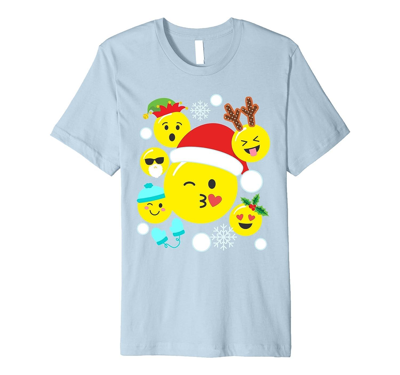 Kiss Wink Emoji Santa Claus Cute Christmas Shirt for Toddler-FL
