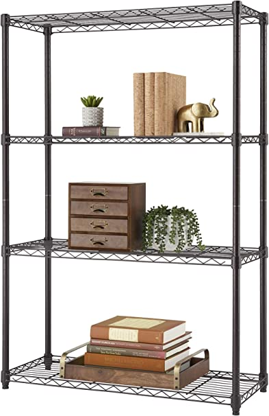 Trinity 4 Tier Nsf Wire Shelving Rack 36 By 14 By 54 Inch Bronze Amazon Co Uk Kitchen Home