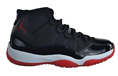 73ad00800c3b8a Jordan Air 11 XI Retro Bred Men s Basketball Shoes Black Varsity Red White  Black