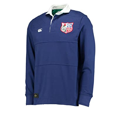Canterbury British   Irish Lions 1888 L S Panelled Rugby Shirt - Faded Navy  - 836089d9a