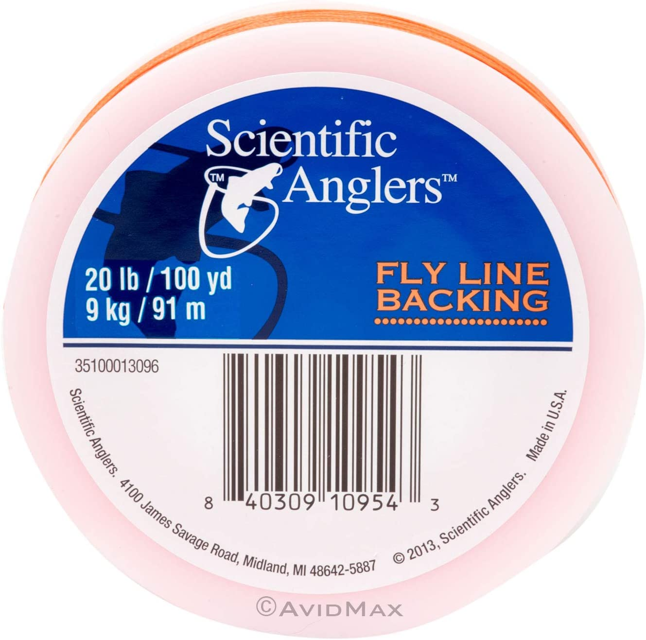 Scientific Anglers Backing 20# 100yd Orange