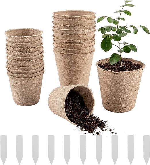 Biubee - Lote de 50 macetas de turba de Semillas de Plantas de ...