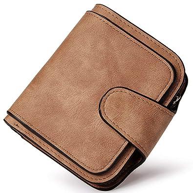PARADOX (LABEL) Girls Bi-fold Card Holder Womens Purse Clutch Wallet (Brown 0f7119ee40