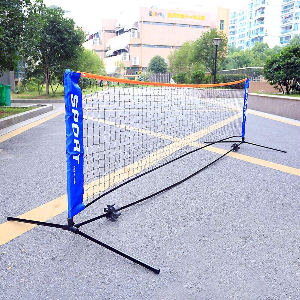 GYKLY Red de bádminton portátil estándar hogar Plegable de Tenis de Interior y Exterior Red de Tenis de Competencia estándar