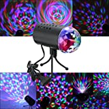 SOLMORE Mini Luci da palco luci da discoteca luce per discoteca Luci Proiettore lampada cristallo rotante sfera LED RGB effetto per KTV discoteca bar club Natale DJ Magic Ball vocale