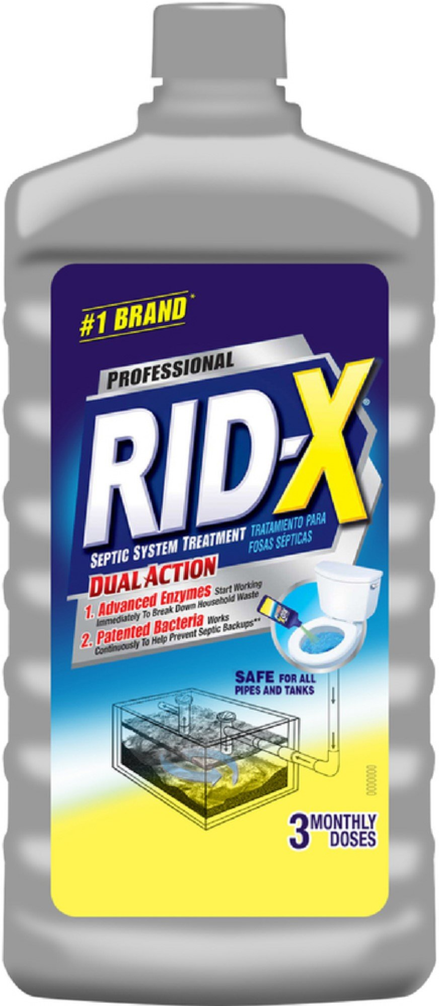 Rid-X Septic System Treatment 24 oz (5 Pack) by Rid-X