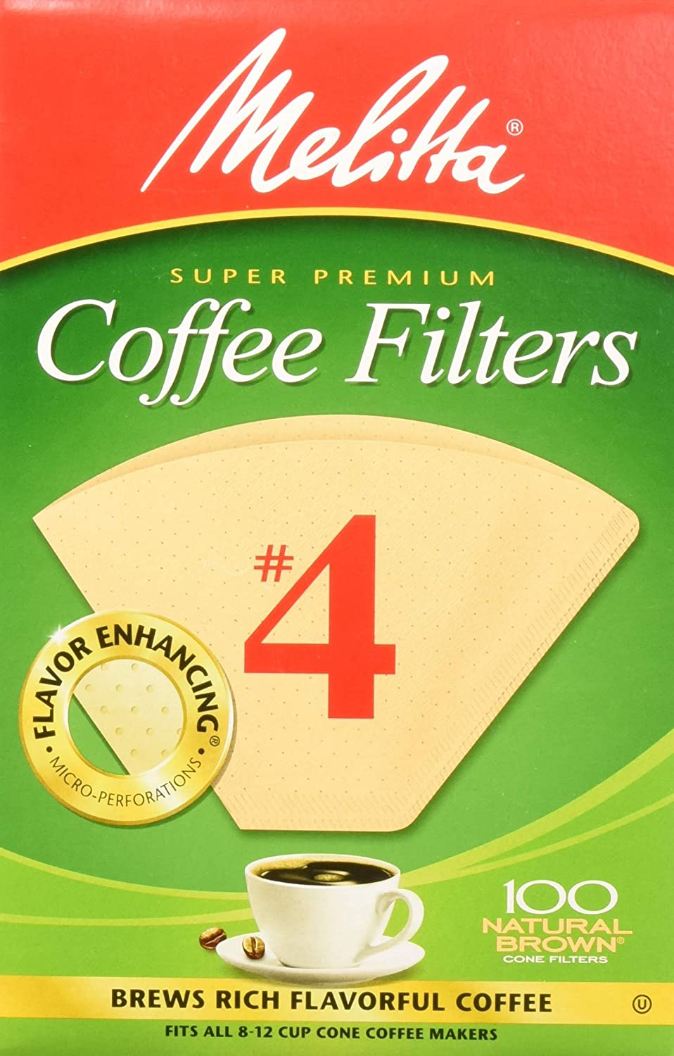 Melitta Number 4 Coffee Filters, Natural Brown, 100 Count 71JWdwzouaL