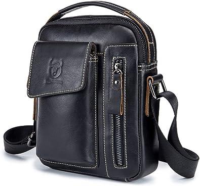 Men/'s Leather Business Casual Messenger Bag Cross-body Tote Handbag Shoulder Bag